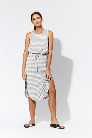 eb & ive  BLANCA TANK DRESS  gray/white - the clothing edit