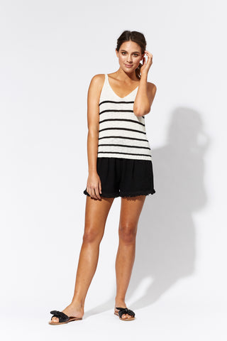 eb & ive  JALAPA TANK  white/black - the clothing edit