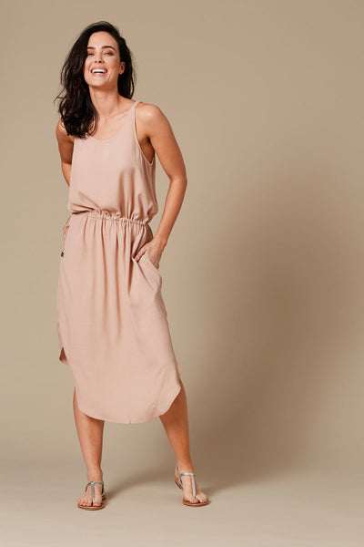 eb & ive  MOALA TIE SIDE DRESS  sahara - the clothing edit