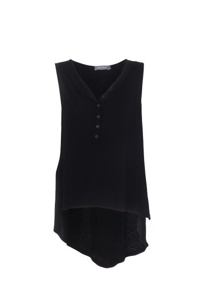 eb & ive MAHANA SINGLET  black - the clothing edit