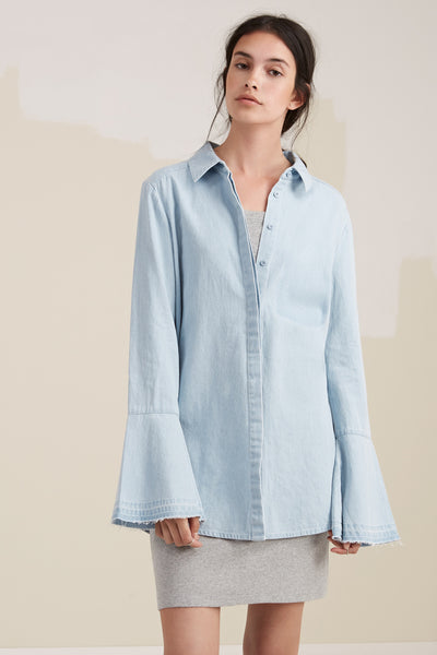 The Fifth Label THE MOTEL SHIRT washed denim - the clothing edit