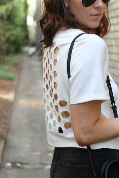 Honeycomb Shift Top