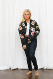 Connect the Dots Floral Bomber Jacket