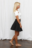 Regal Black Circle Skirt
