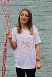heart graphic tee