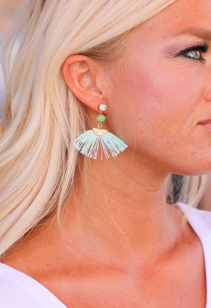 Spring Fringe Fan Earrings