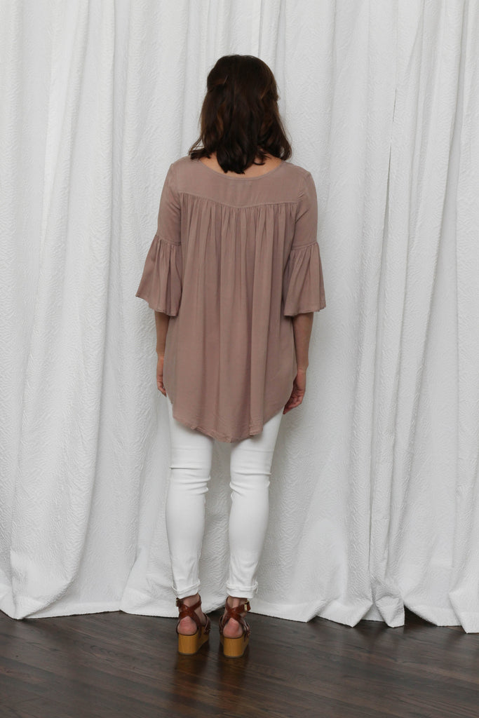 Let's Be Friends Mocha Top **ONLY 1 LEFT!**