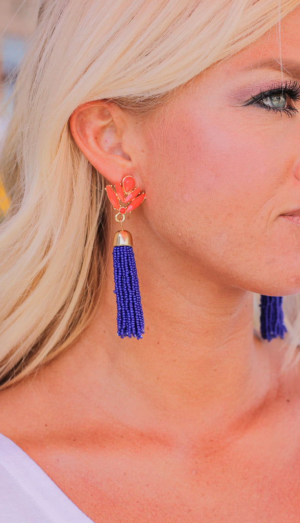 Rebel Beaded Fringe Earrings
