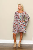 Printed Bell Sleeve Dress **ONLY 1 LEFT!!**