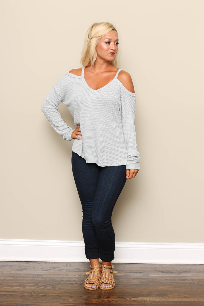 Waffle Knit Top **ONLY 1 LEFT!!**