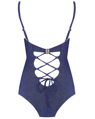 The 9.2.9 Swimsuit - Navy Glimmer (In Store ~ Harrods)