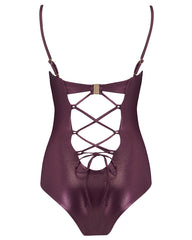 The 9.2.9 Swimsuit - Plum Shimmer