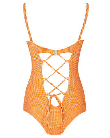 The 9.2.9 Swimsuit - Mandarin Check