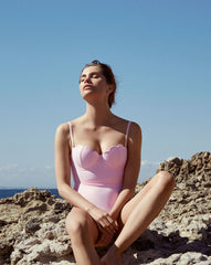The Contour Swimsuit - Bonbon Pink (In Store ~ Harrods)