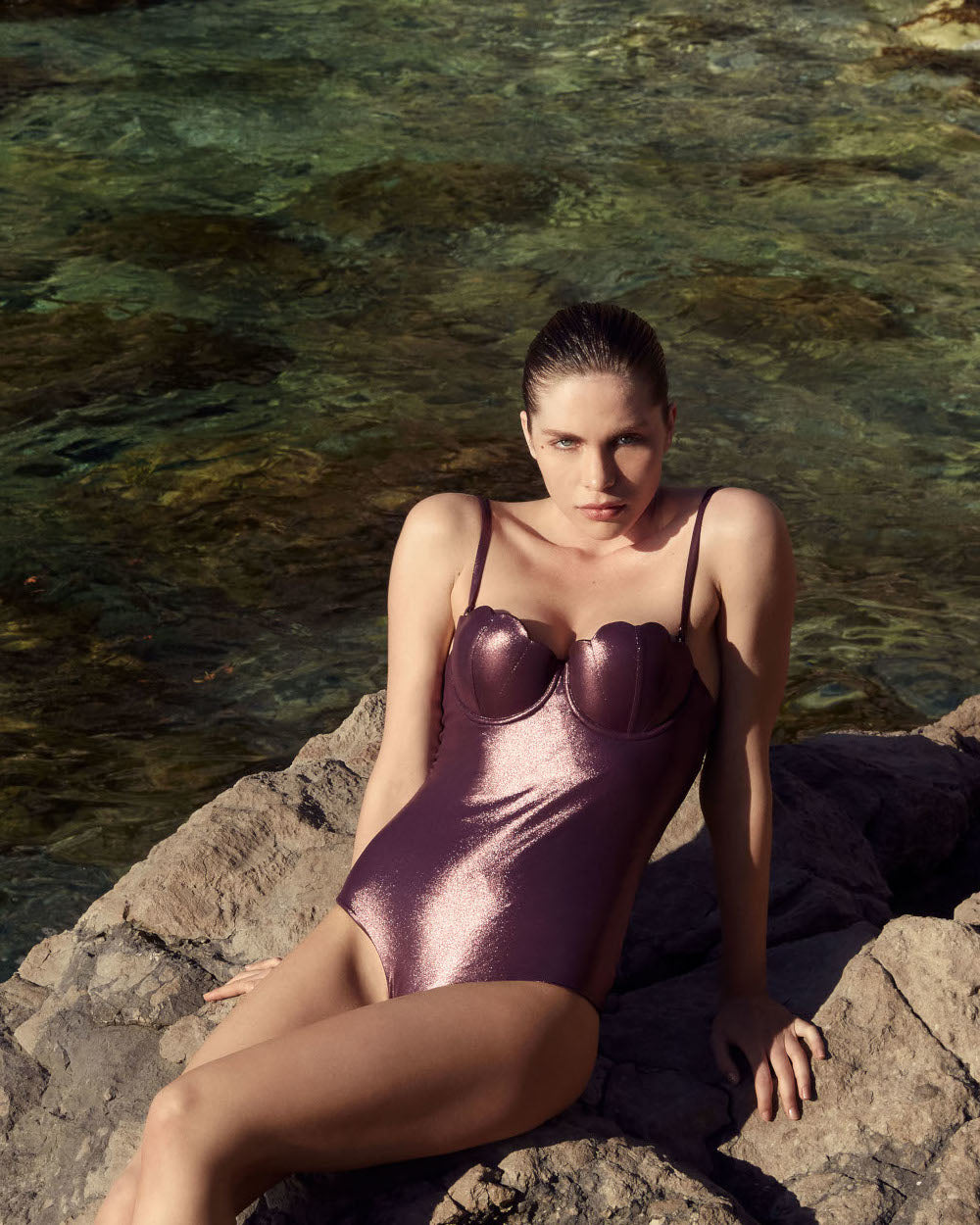 The Contour Swimsuit - Plum Shimmer