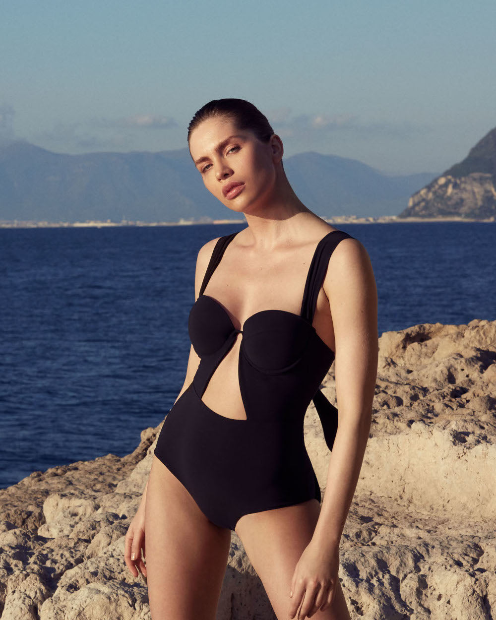 The Bustier Bodysuit - True Black  (In Store ~ Selfridges)