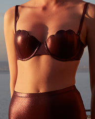 The Contour Bra Set - Plum Shimmer