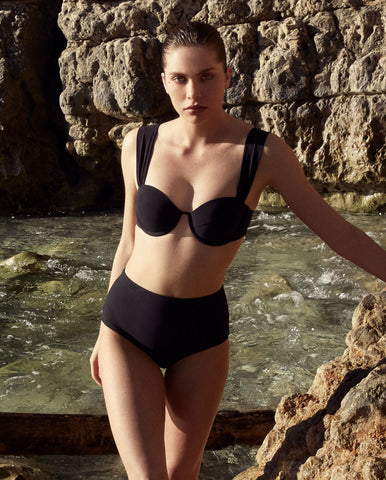 The Modern Bustier Set - True Black (In Store ~ Harrods)