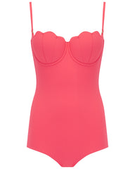 The Contour Swimsuit - Coral Rose