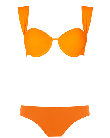 The Modern Bustier Set - Mandarin