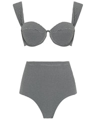 The Modern Bustier Set - Timeless Check
