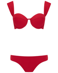 The Modern Bustier Set - Cherry Luxe
