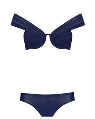 The Bardot Bustier Set - Berry Luxe