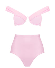 The Bardot Bustier Set - Bonbon Pink