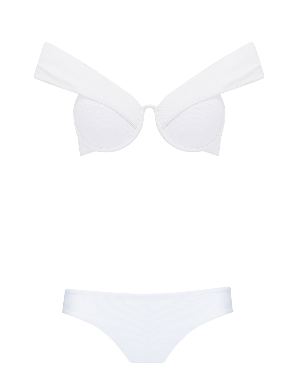 The Bardot Bustier Set - Ivory
