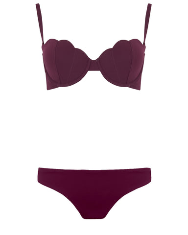 The Contour Bra Set - Plum