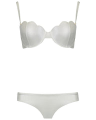 The Contour Bra Set - Silver Shimmer