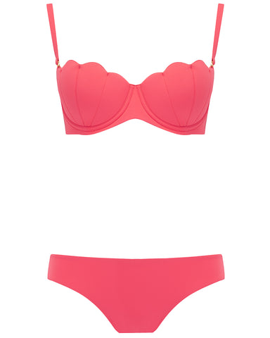The Contour Bra Set - Coral Rose
