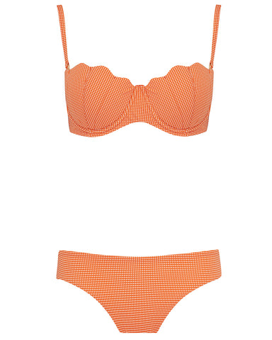 The Contour Bra Set - Mandarin Check