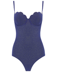 The Contour Swimsuit - Navy Glimmer
