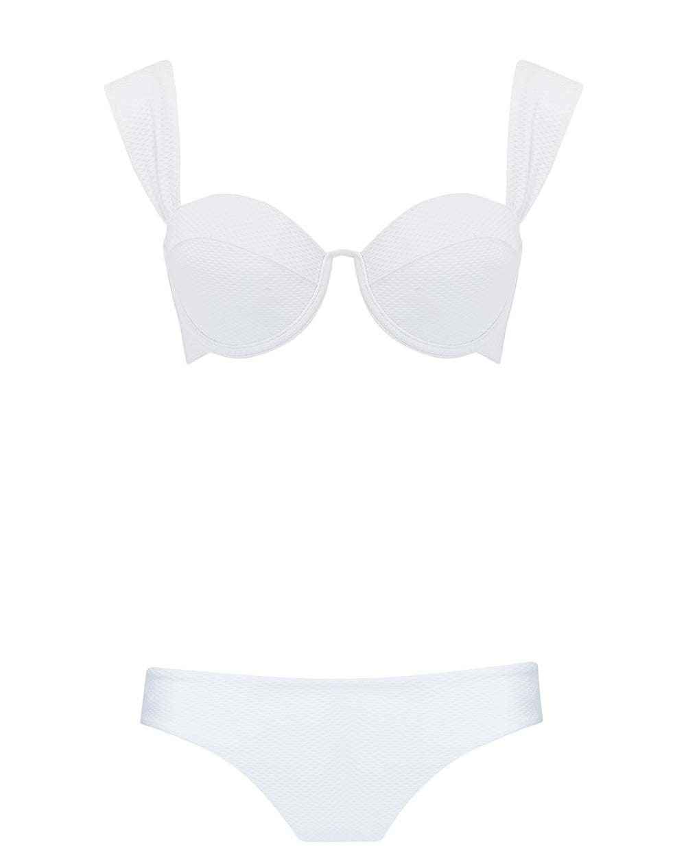 The Modern Bustier Set - Ivory