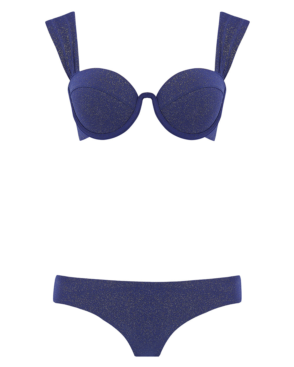 The Modern Bustier Set - Navy Glimmer (In Store ~ Harrods)