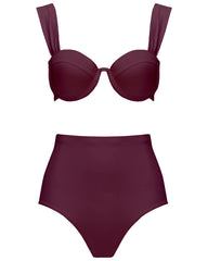 The Modern Bustier Set - Plum (In Store ~ Selfridges)