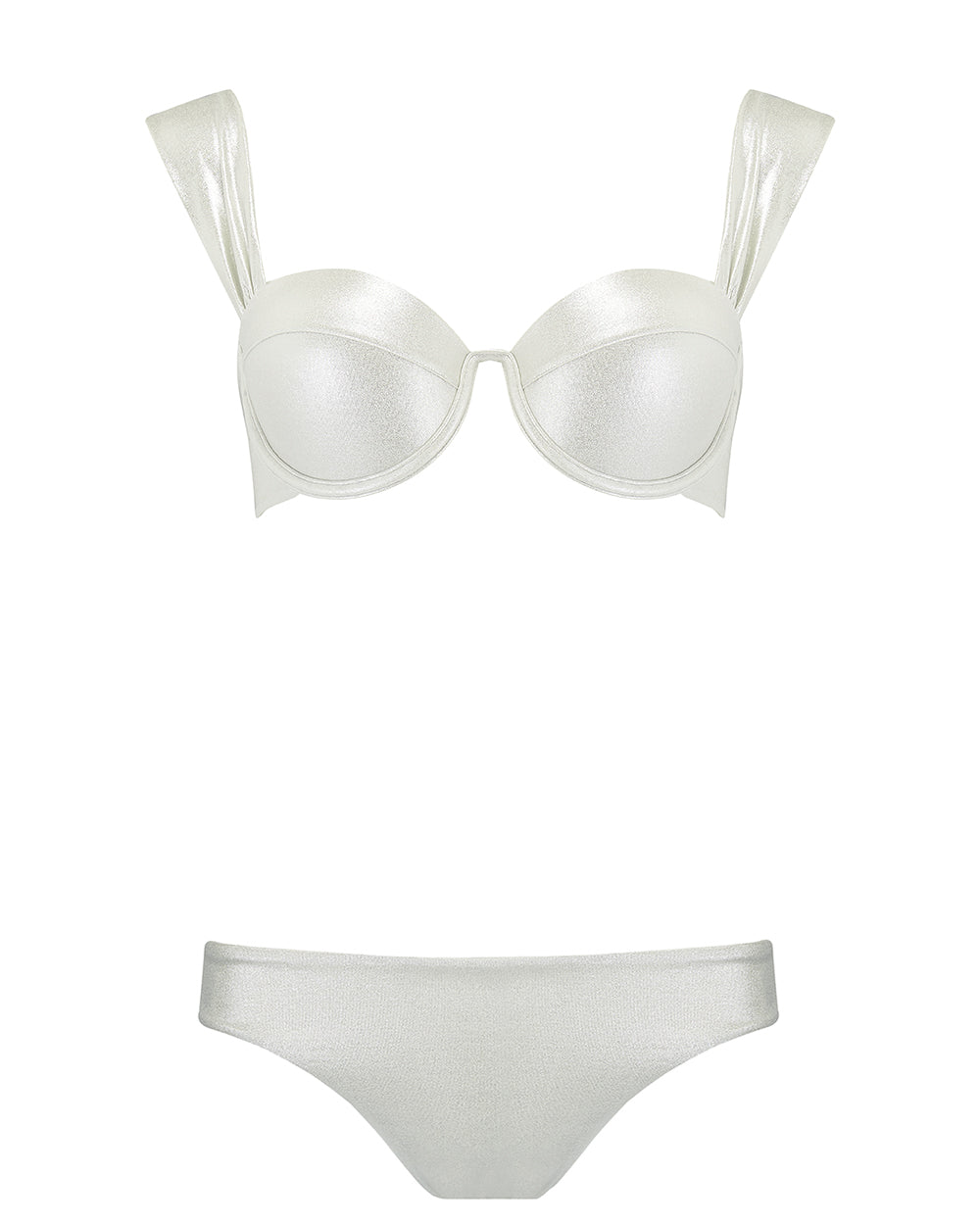 The Modern Bustier Set - Silver Shimmer