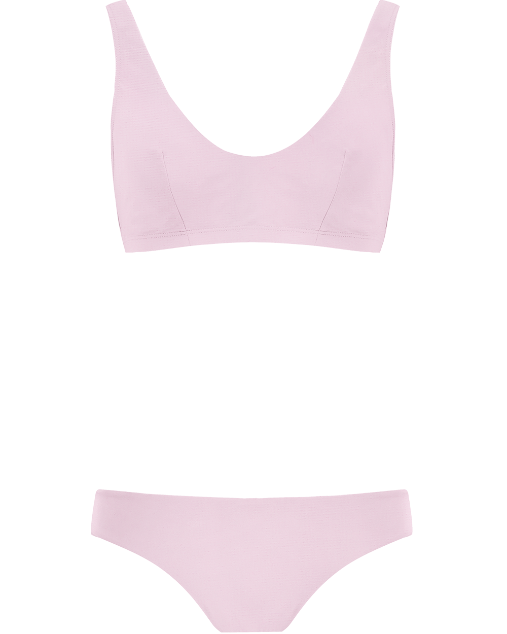 The Plunge Crop Set - Bonbon Pink