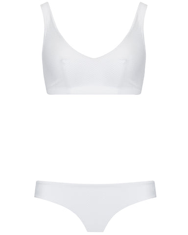 The Plunge Crop Set - Ivory