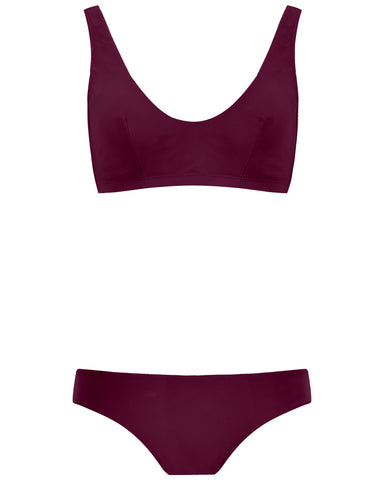 The Plunge Crop Set - Plum