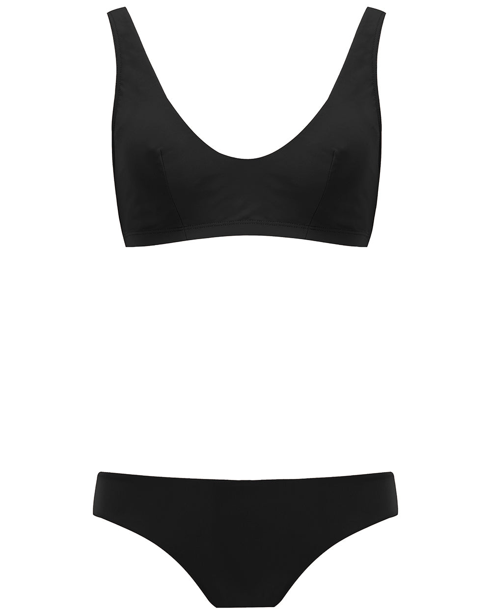 The Plunge Crop Set - True Black