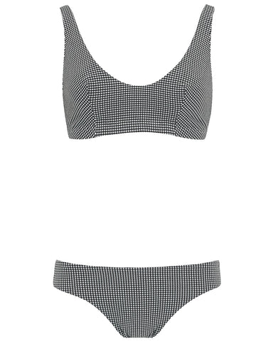 The Plunge Crop Set - Timeless Check