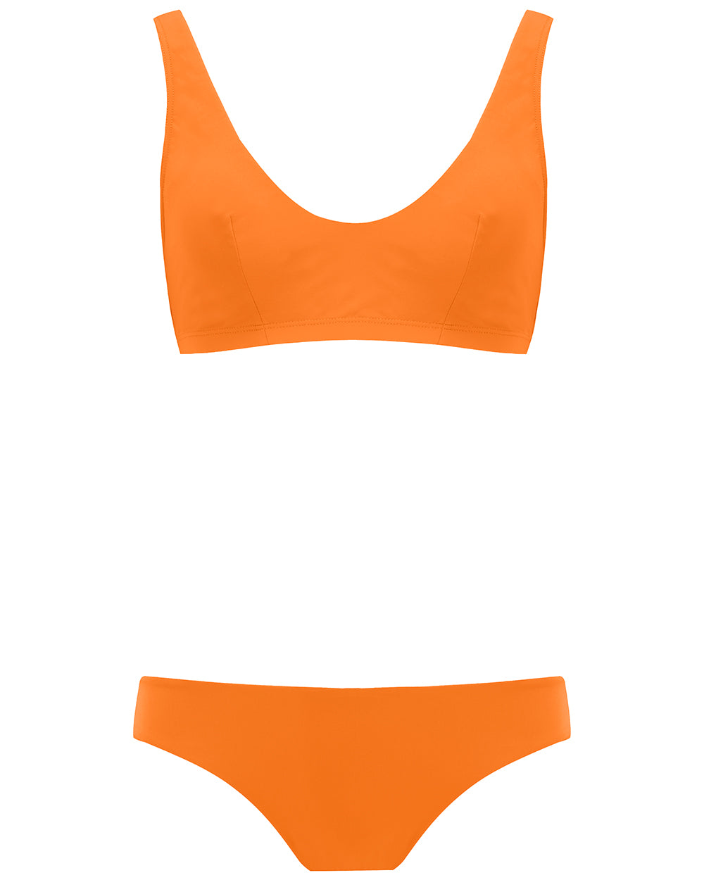 The Plunge Crop Set - Mandarin