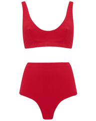 The Plunge Crop Set - Cherry Luxe