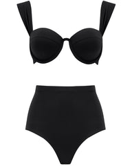 The Modern Bustier Set - True Black