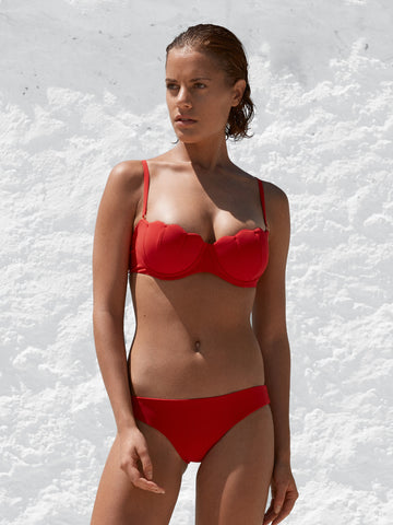 The Contour Bra Set - Cherry Luxe -  In Store