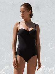 The Contour Swimsuit - Mandarin Check