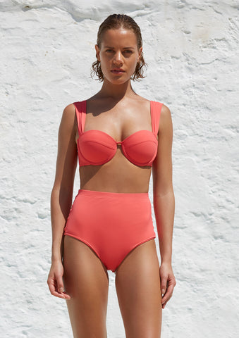 The Modern Bustier Set - Coral Rose