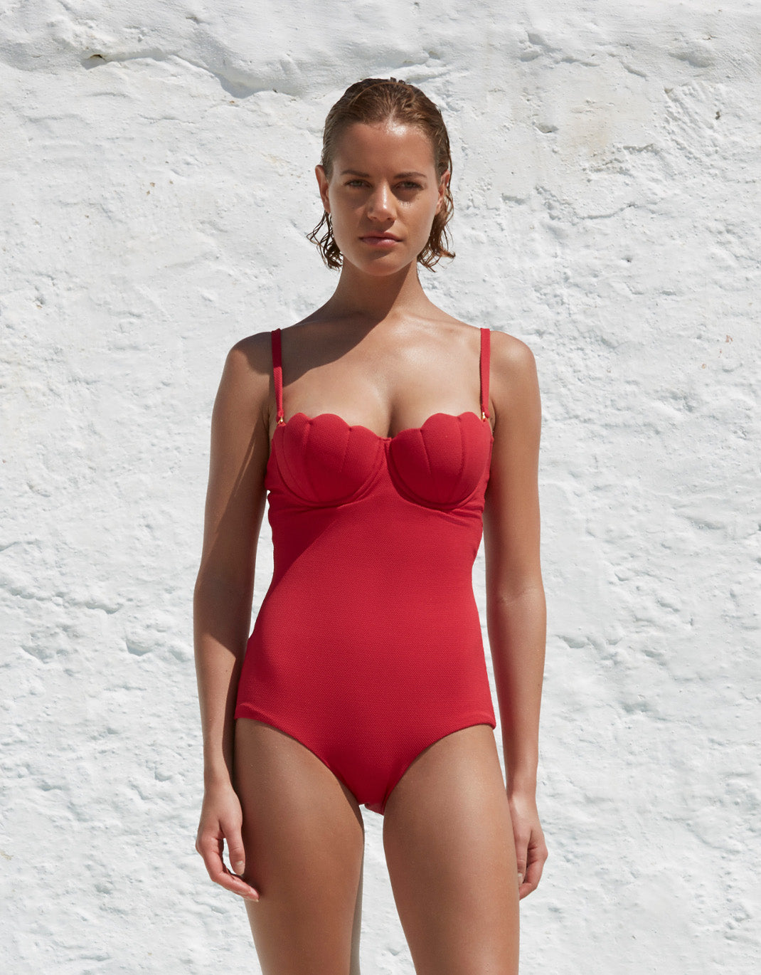 The Contour Swimsuit - Cherry Luxe